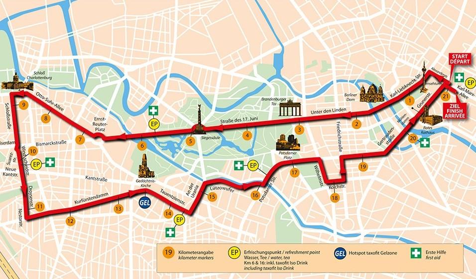 Berlin'i 21k Koşarak Gezmek