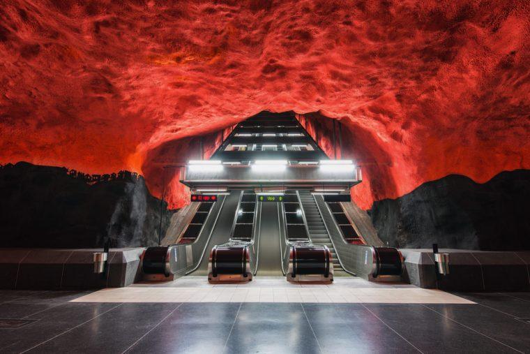 Stockholm Metro Durakları | Solna Centrum Durağı