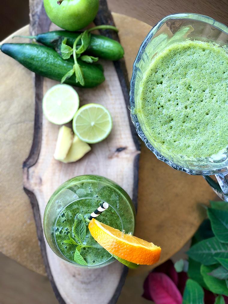 Kahvaltı Alternatifi Sağlıklı Yeşil İçecek