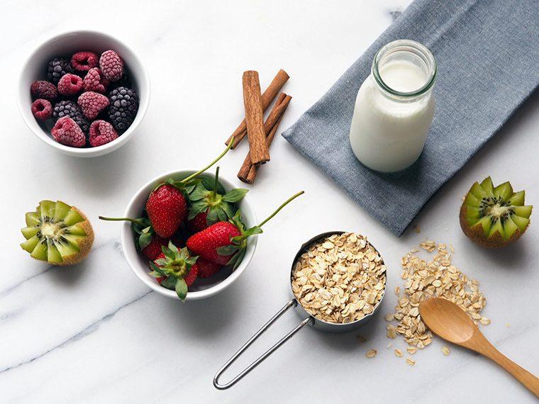 Muzlu ve Orman Meyveli Yulaf Ezmesi, Porridge