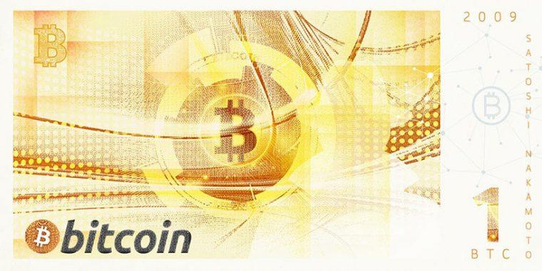 Kripto Paralar Banknot Tasarım - Bitcoin