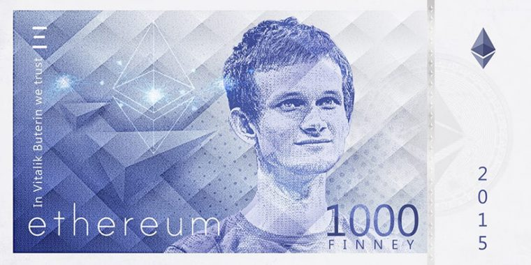 Kripto Paralar Banknot Tasarım - Ethereum