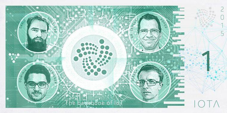 Kripto Paralar Banknot Tasarım - IOTA