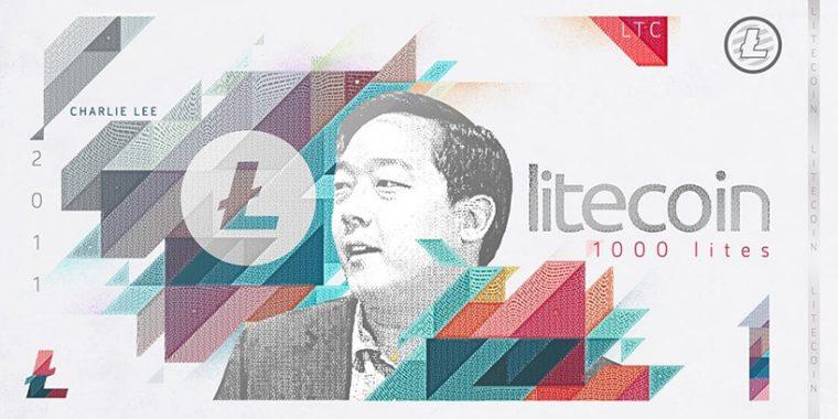 Kripto Paralar Banknot Tasarım - Litecoin