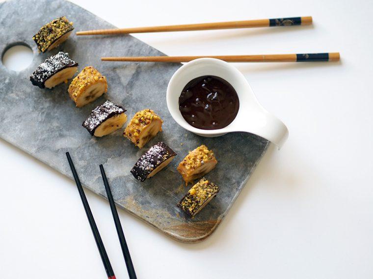 Banana Sushi: Muzlu ve Yer fıstıklı Sushi Tatlısı