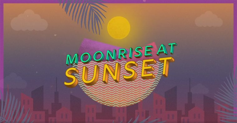 istanbul etkinlik | Moonrise at Sunset