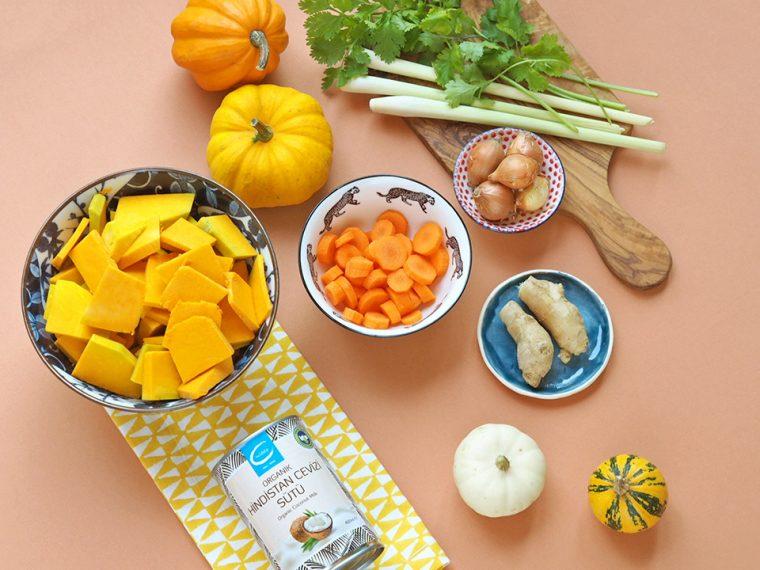 Tay Usulü Vegan Balkabağı Corbası | Malzemeler