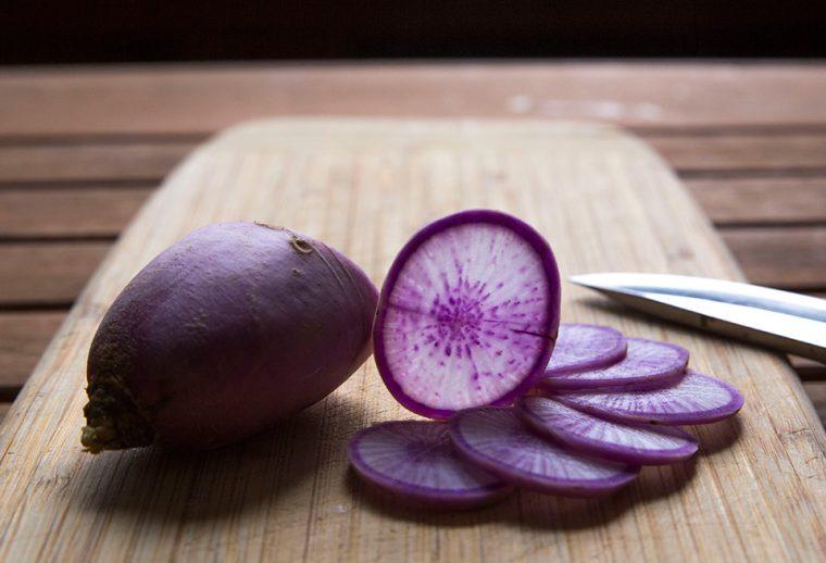 Tropik Meyveler: Antioksidan Kaynağı Görsel Şölen | Purple Daikon Radish