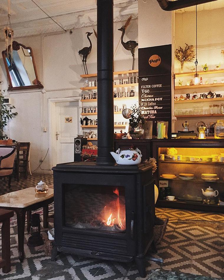 Şömineli Cafeler | Pop's Balat