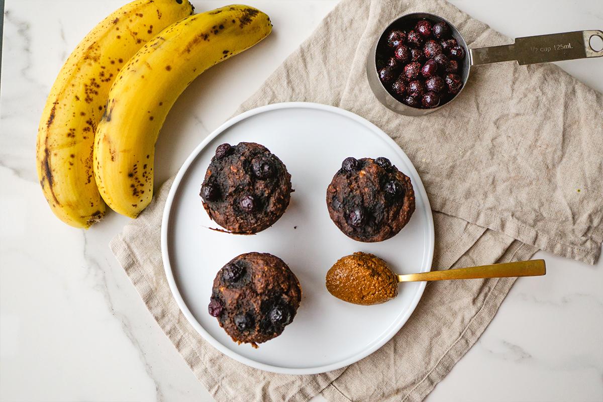 Kakao ve Muzlu Vegan Muffin